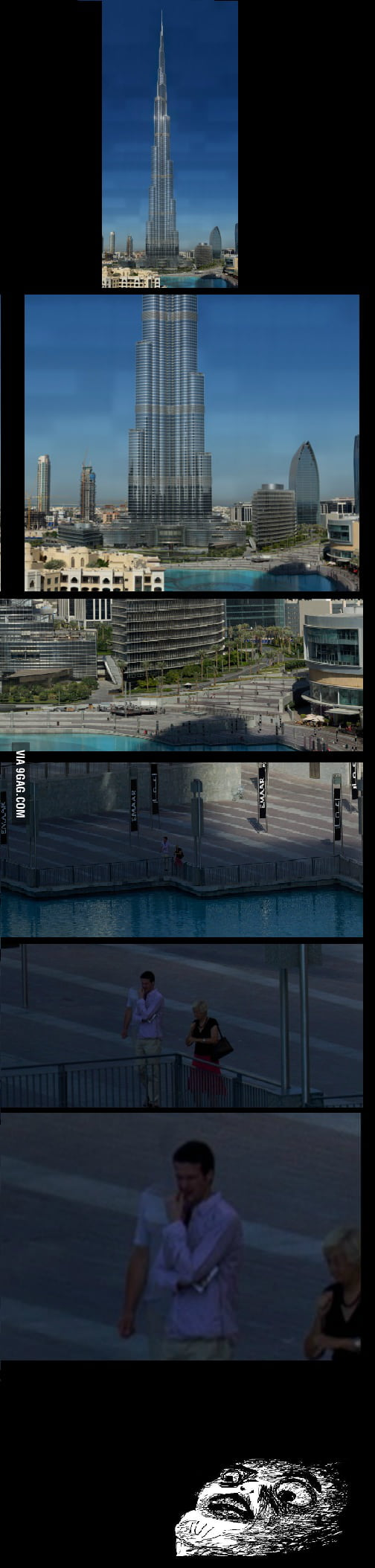 Checking out the Burj Khalifa when suddenly...
