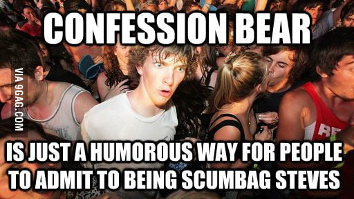Suddenly realized after reading a lot of Confession Bear.
