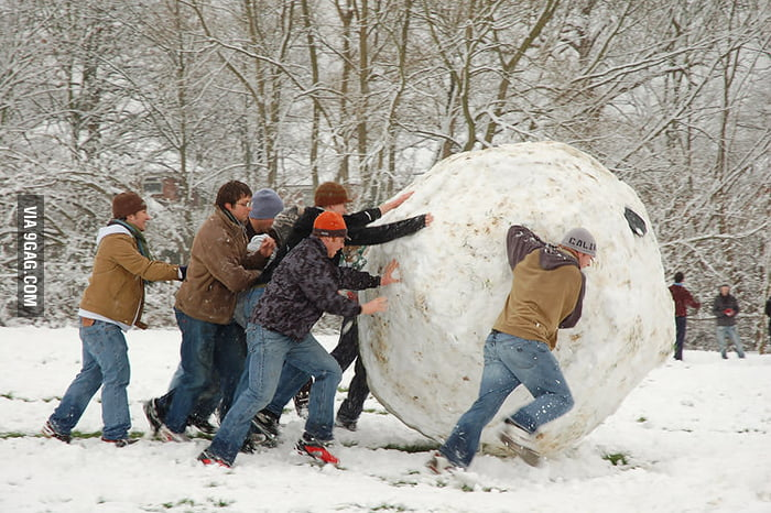 That's a huge snowball!