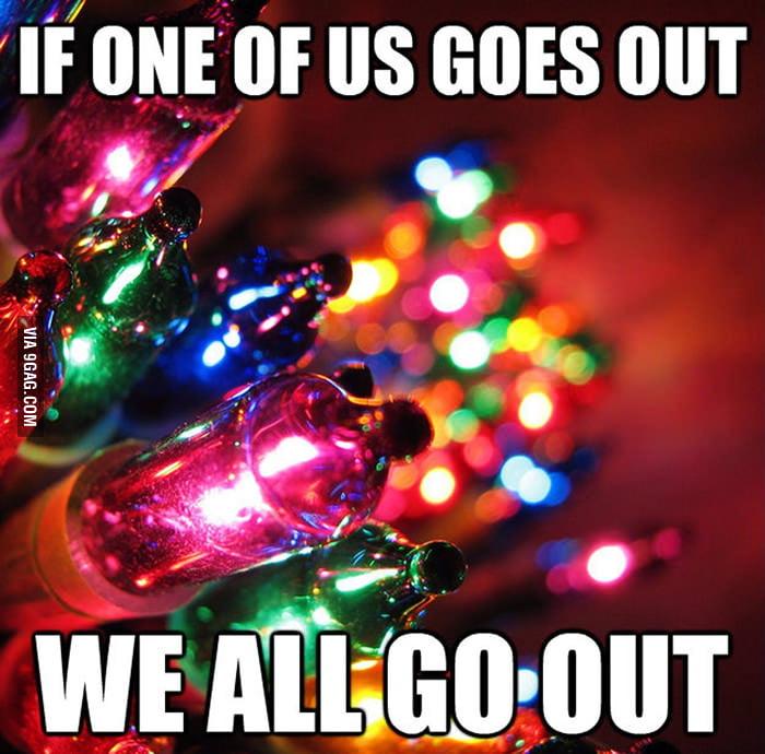Dead Bulbs - the stuff of Christmas Nightmares.