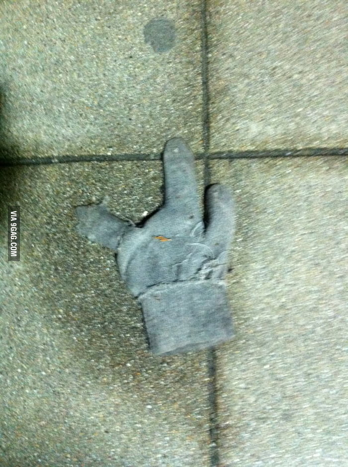 Did one of you lose this glove?