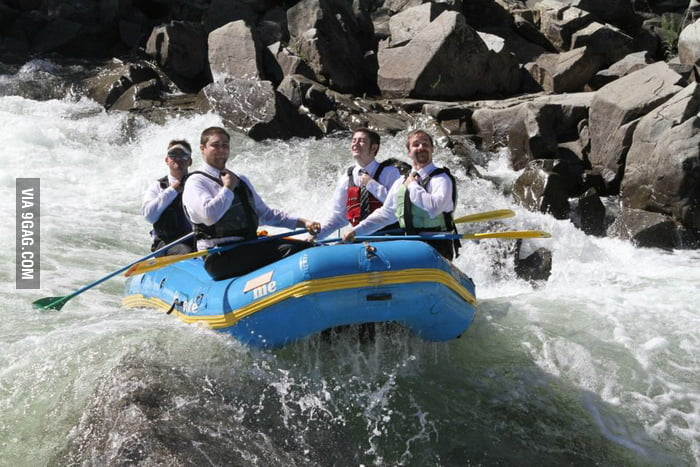 White (collar) water-rafting.