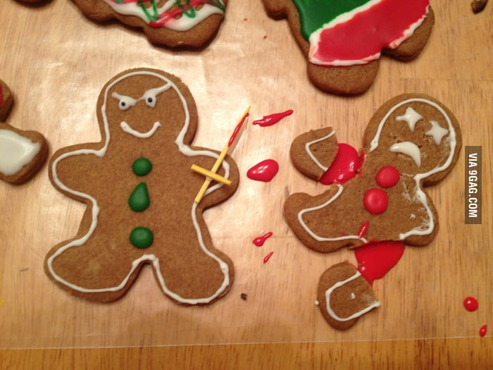 The gingerbread men didn't get along.