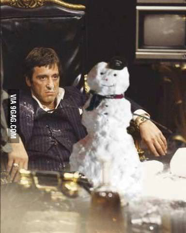 How scarface celebrates christmas