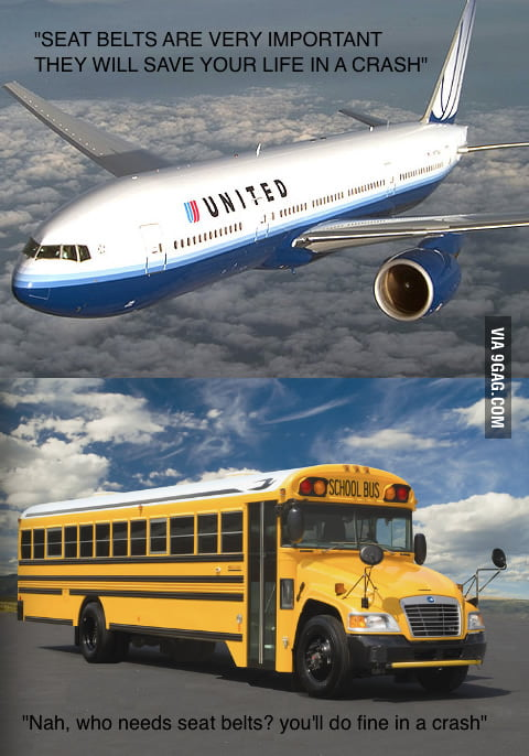 One thing I never understood about busses and planes
