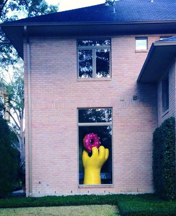 The house owner must be a big fan of The Simpsons.
