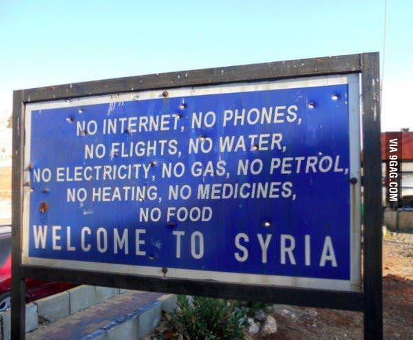 Welcome to Syria!