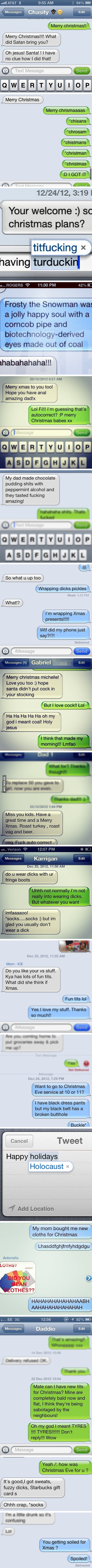 Funniest Christmas Autocorrects