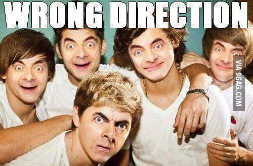Wrong direction!!