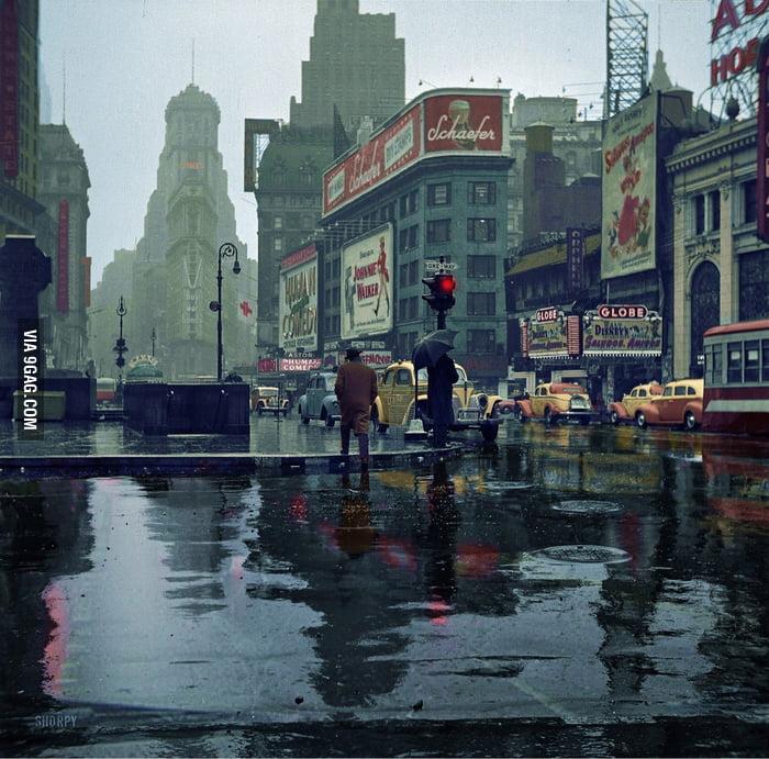Time Square, circa 1943.