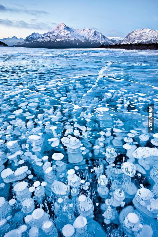 Amazing frozen lake