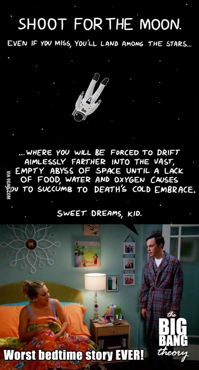 Worst bedtime story ever, Sheldon!