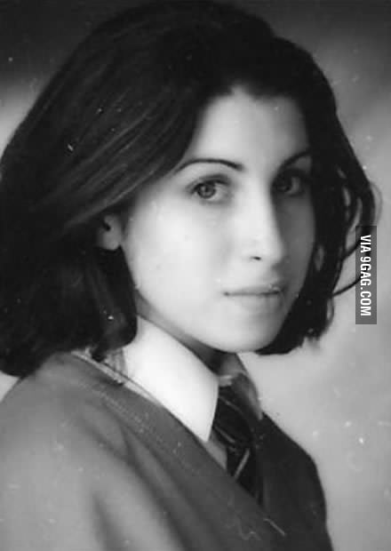 Young and beautiful Amy Winehouse before fame and drugs.