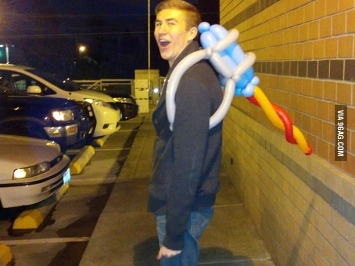 Awesome balloon jetpack!