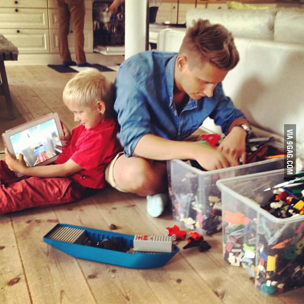 I see generation gap in this picture.