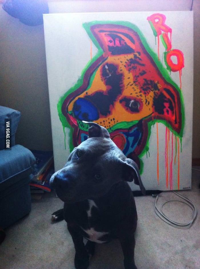 Dog painting, nailed it?