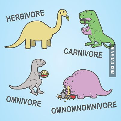 Different dinosaurs