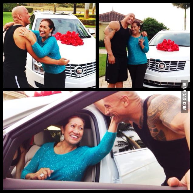 Just The Rock's Christmas Present to his mother.