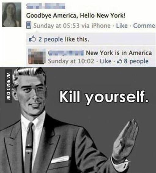Goodbye America, Hello New York.