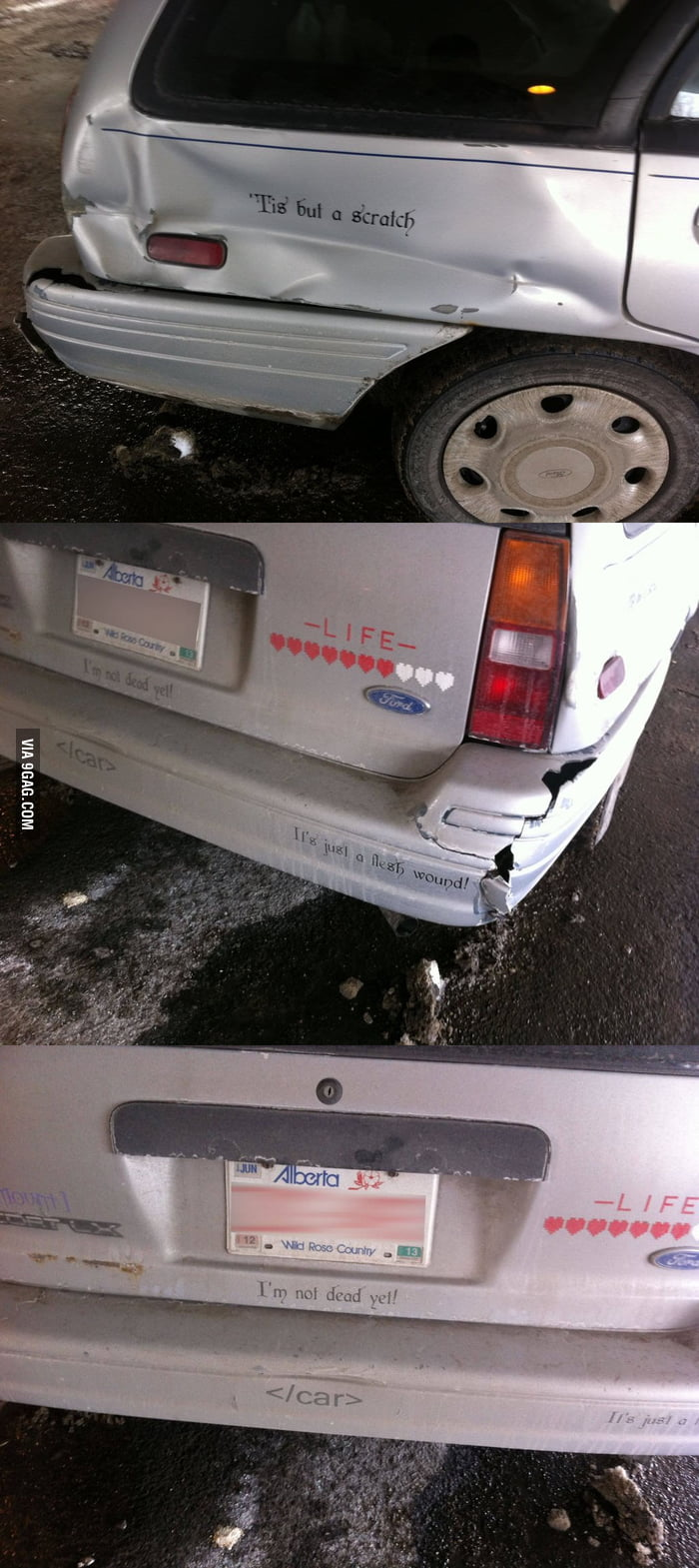 Making the best of a damaged car