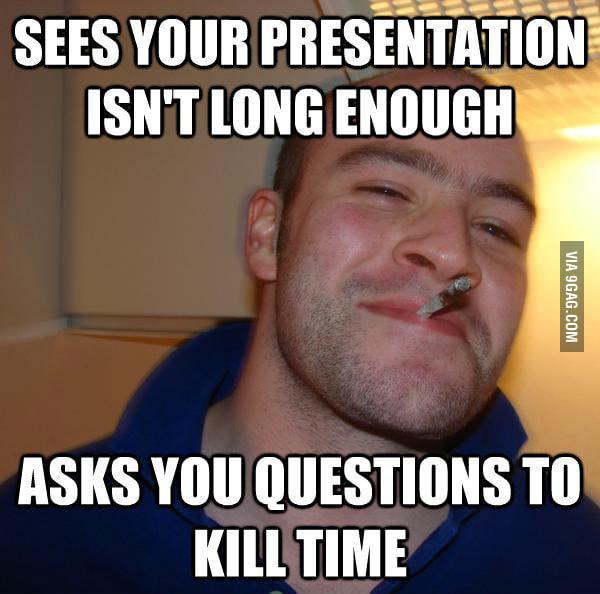 Good Guy Greg in class.
