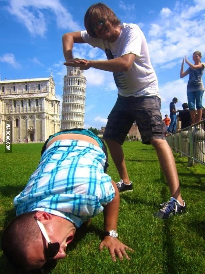 Shoving the Leaning Tower of Pisa into ass.