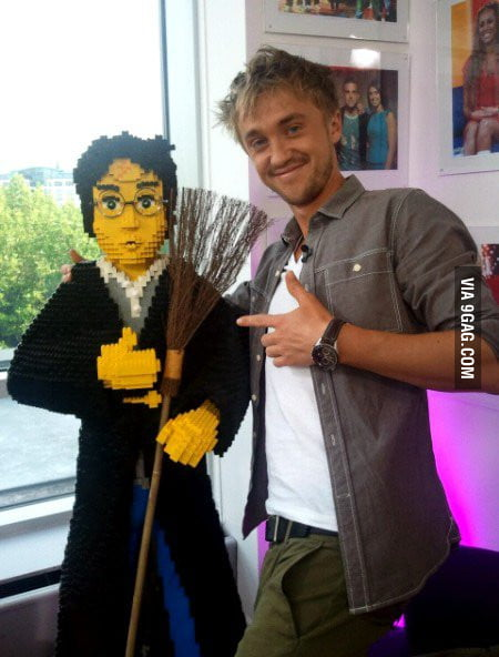 Tom Felton wont lego of Harry