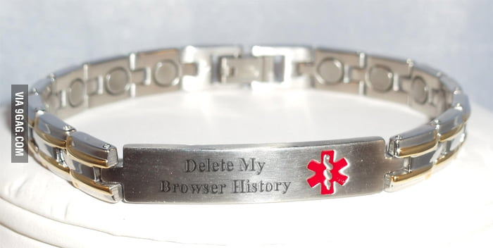 A medic-alert bracelet like this might be sensible.