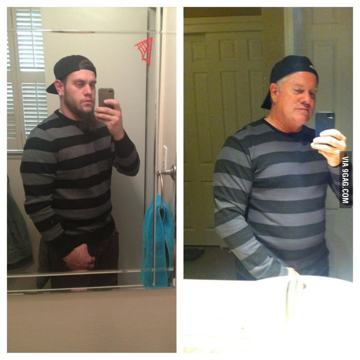 The father decided to make fun of his son's facebook photo