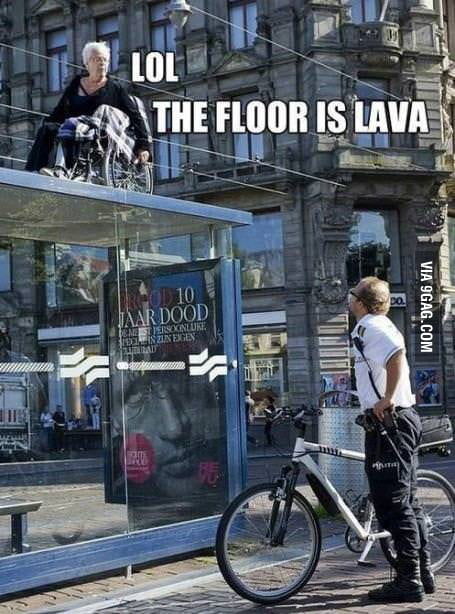 LOL The floor is lava