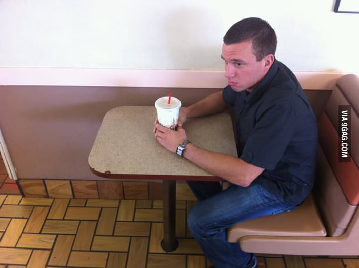 This Burger King has the perfect forever alone spot.