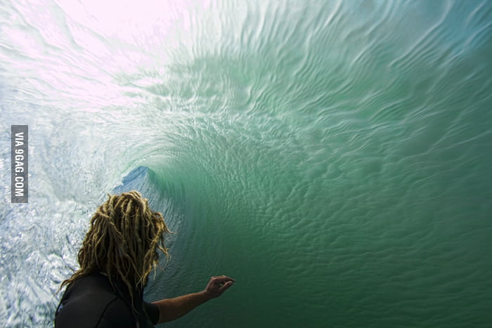 The moment within the wave!