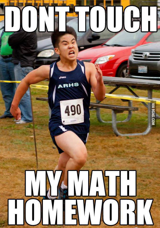 And my Physics homework!