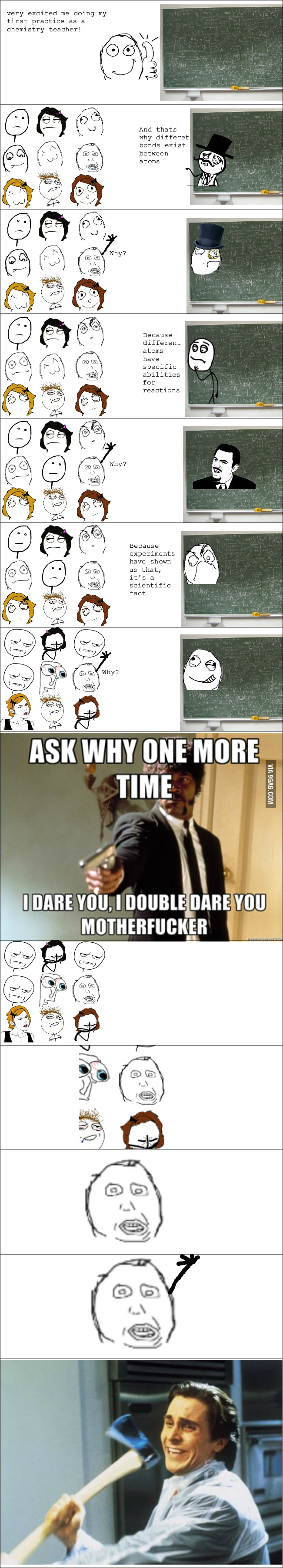 Working as a teacher, this is irritating!