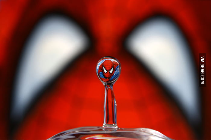 Spiderman in a drop of water
