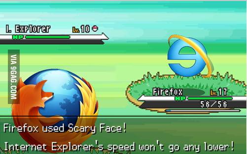 Internet Explorer crashed!