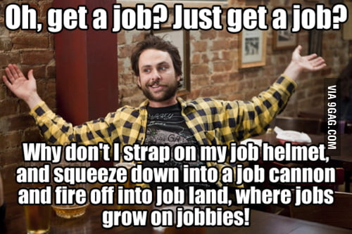 How I feel about the job market nowadays