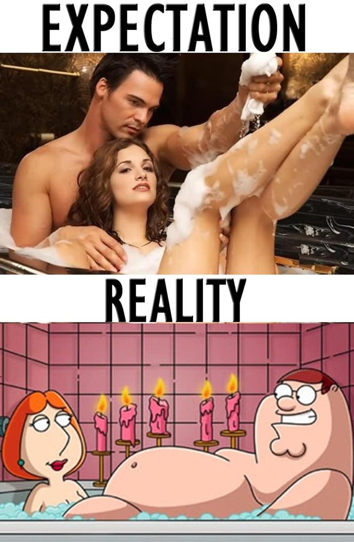 Sexy bubble bath, huh?