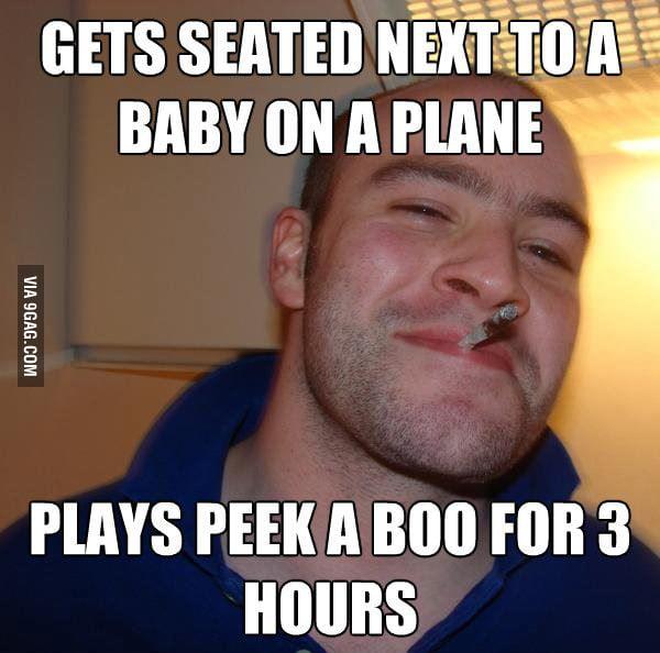 Met a Good Guy Greg on a flight.