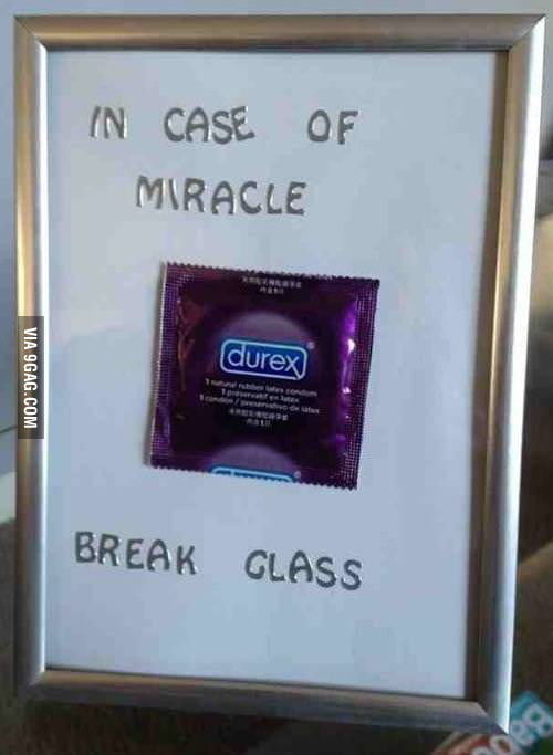 In case of miracle...