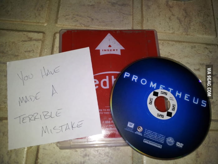 I rented Prometheus and this was in the box.