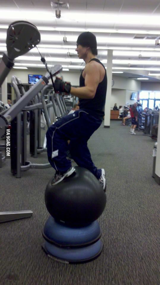 He lives a dangerous life and does dangerous gym.