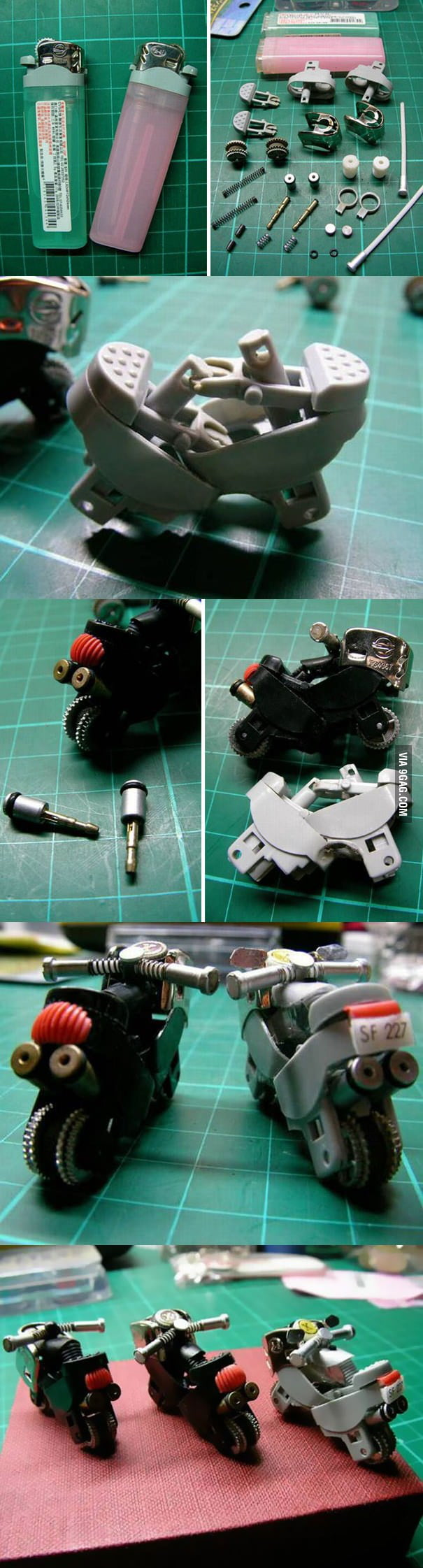 Turn a Lighter Into a Mini Bike