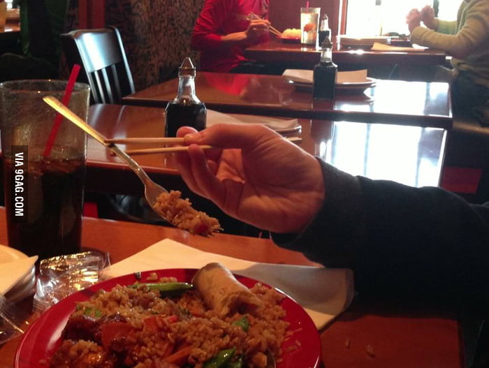Don't know how to eat rice with chopsticks? Problem solved!