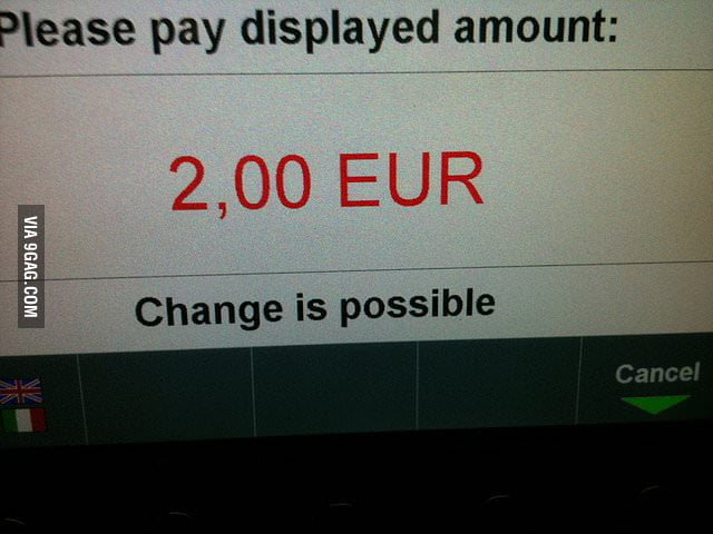Got cheered up by the parking meter today.