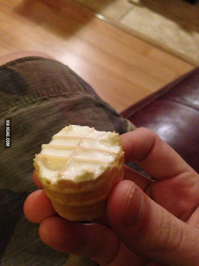 My favorite part of an Ice cream cone.
