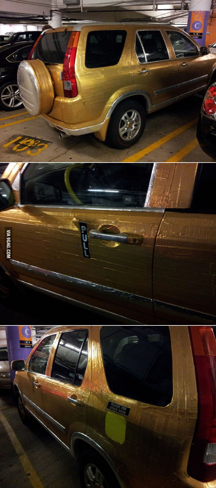 Who needs paint when you have duct tape?