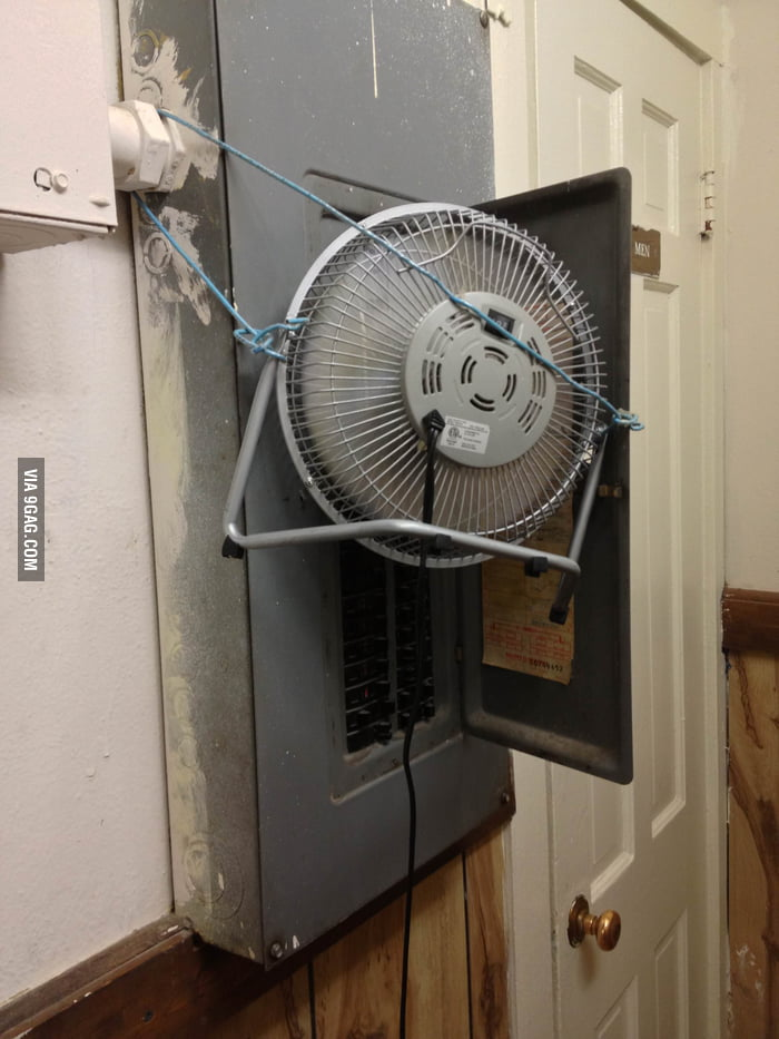 Made a cooler to cool down the electrical box.