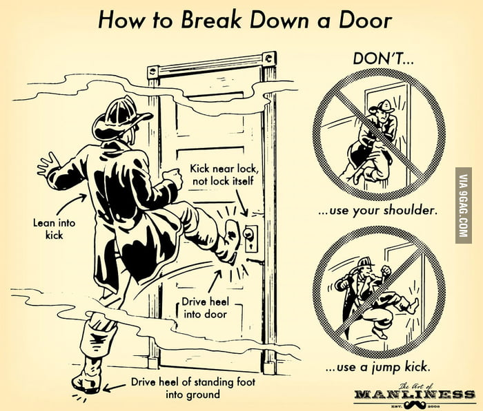 How to knock down a door properly