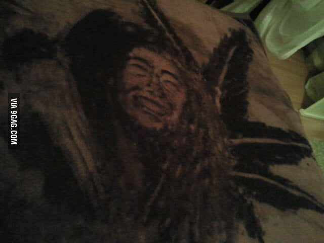 My girlfriend drew this on her blanket, with her finger!